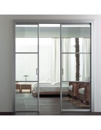 Natural aluminium. Neutral glass