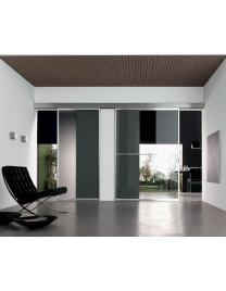 Unika sliding door with 1 way wall rail