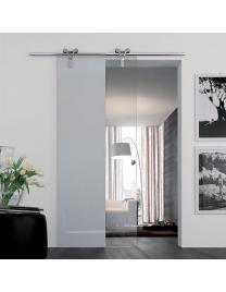 Chrome sliding runners, neutral glass
