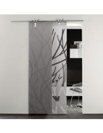 Frosted glass with forest 2 decoration
