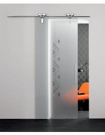 Logika door with frosted glass (V1-11) with F decoration