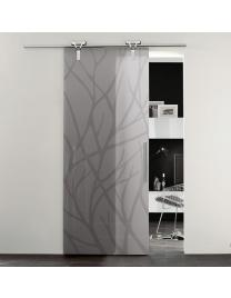 Neutral glass with forest 1 decoration