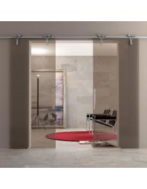 Profiles in nickel finishing, bronze glass