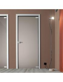Light swing door all glass frosted bronze