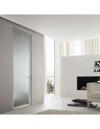 Door with aluminium frame and frosted glass v1-11